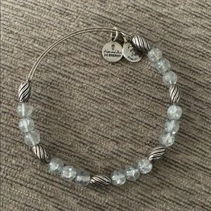 Alex and ani blue and silver beaded bracelet